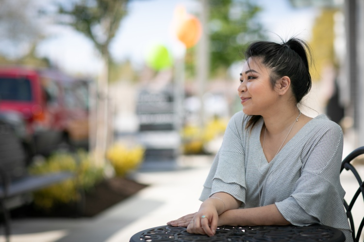 My Name is Aiko lifestyle and beauty Seattle based blogger on main street in Bellevue